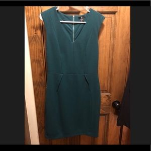 H&M dress, emerald green